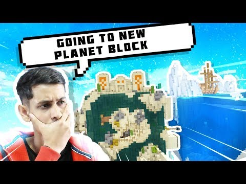 MINECRAFT NEW FIRE AND ICE PLANET  SKYBLOCK EPISODE 2 🌍🌍 || FUNNY HINDI MINECRAFT PE GAMEPLAY