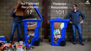 Flatten Your Recyclable Items