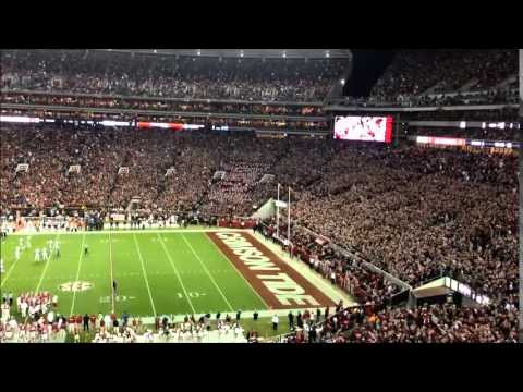 Alabama fans sing Dixieland Delight during Iron Bowl 2014