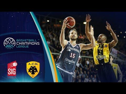 SIG Strasbourg v AEK - Full Game - Basketball Champions League 2017-18