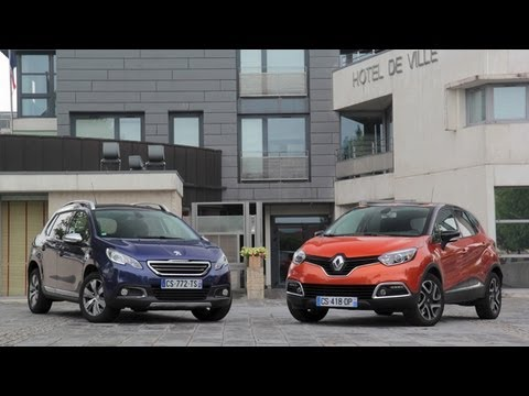 comparatif renault captur peugeot 2008 youtube. Black Bedroom Furniture Sets. Home Design Ideas