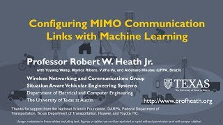 Configuring MIMO Communication Links with Machine Learning
