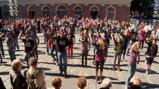 Rock of Ages Flash Mob (HD) | Broadway Across America | Quincy Market, Boston, MA