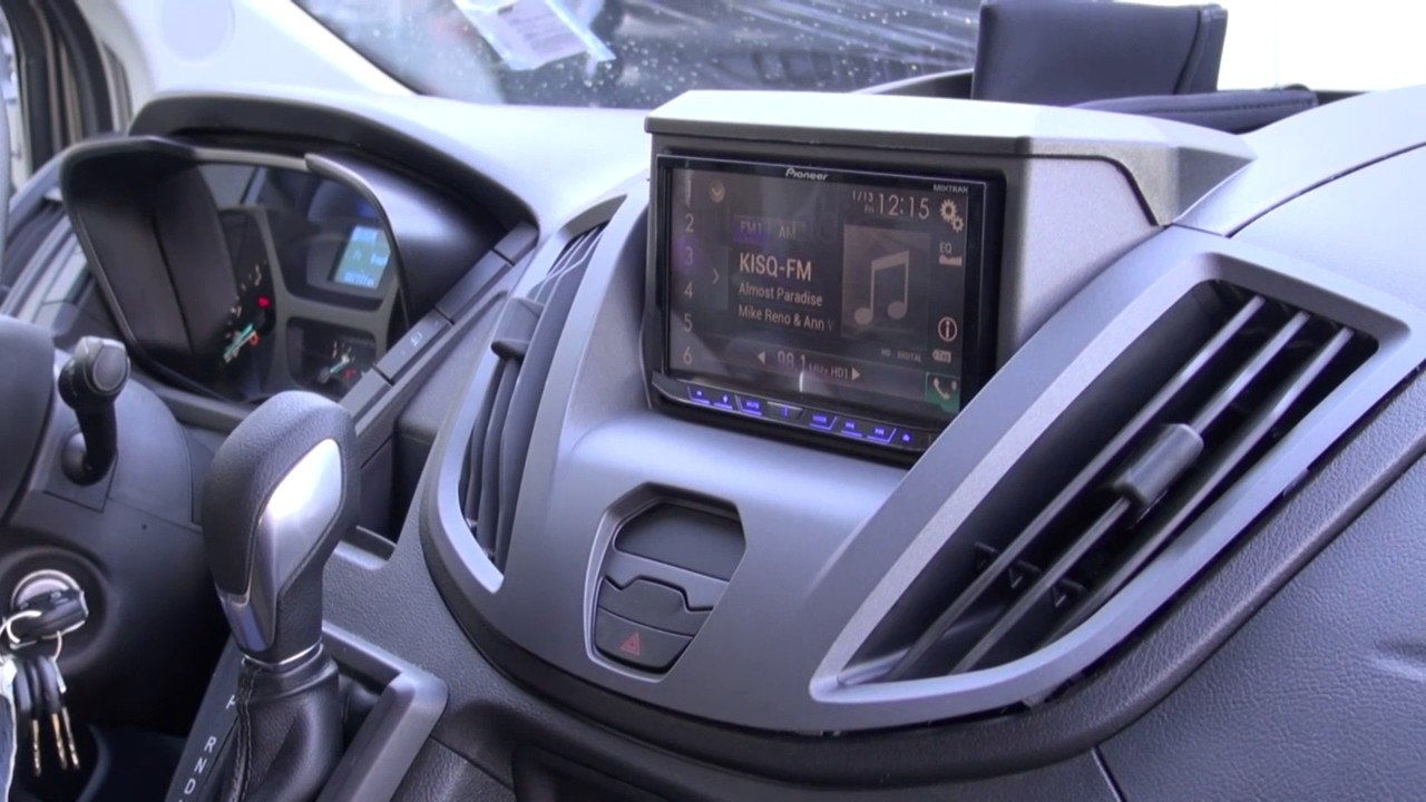 Ford Transit Connect >> Ford Transit Audio Upgrade with the Pioneer 4200 Apple Car Play by Monney - YouTube