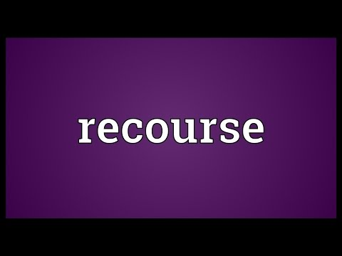 Recourse Meaning