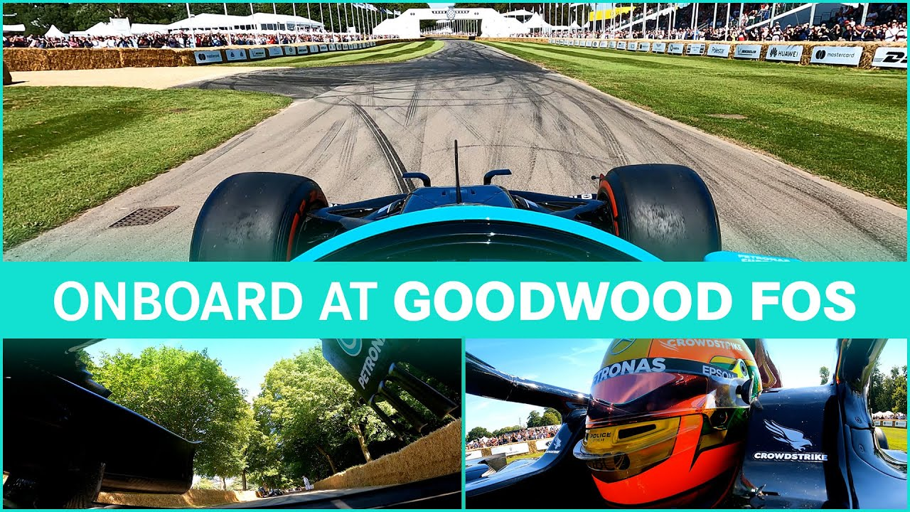 Onboard: Donuts and Burnouts with Esteban at Goodwood!