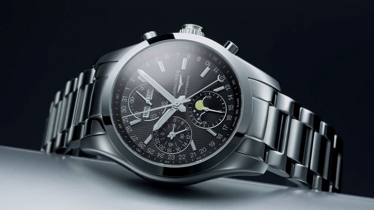 Conquest classic moonphase from longines youtube - Prix longrines prefabriquees ...