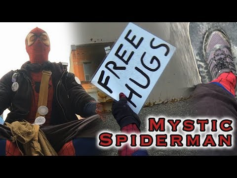 Mystic Spiderman: A Real Life Free Hugs Superhero