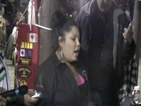Red Thunder singing Back-up Singing victory song in Ponemah  September 2010