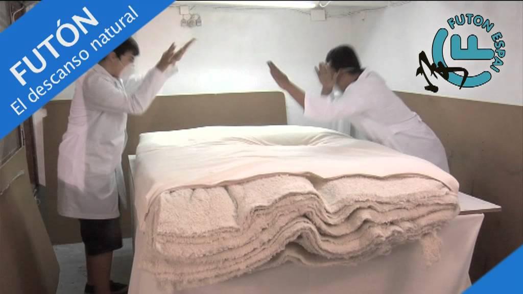 Futon espai futones y tatamis youtube for Colchones de futon