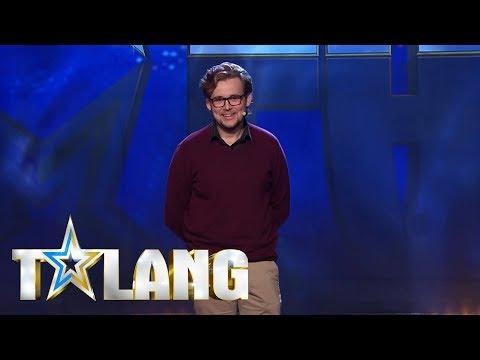 Claes-Martin imiterar Leif GW Persson i Talang - Talang (TV4)