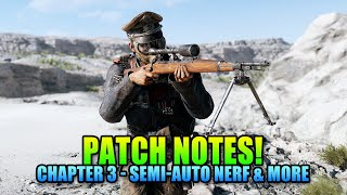 New Patch Notes! Chapter 3 Trial By Fire - Battlefield V