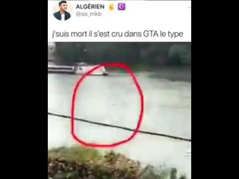 Je suis mort le mec il a cru qu'il était dans GTA