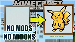 CARA MENGGAMBAR DI MCPE!!  Minecraft Pocket Edition CUSTOM PAINTING Command Creation [MCPE]