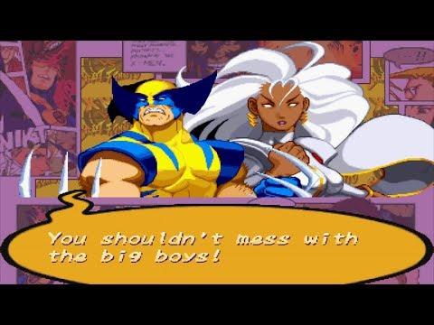 X-Men VS Street Fighter - Wolverine/Storm - Expert Difficulty Playthrough
