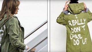 Melania Trump's Zara jacket sparks outrage
