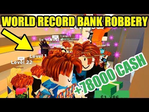 WORLD RECORD Jailbreak BANK ROBBERY!!! | Roblox Jailbreak