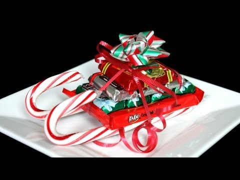CHRISTMAS CANDY CANE SLEIGH HOW TO
