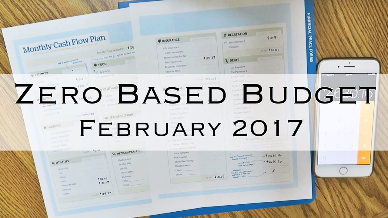 Zero based budget dave ramsey february 2017 youtube pronofoot35fo Choice Image