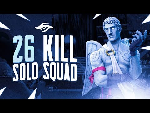 26k Solo Squad / Low HP the Whole Game! | Mongraal