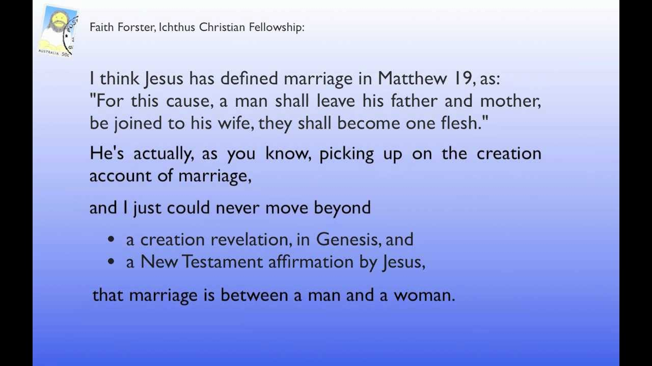 from Tristan why people oppose gay marriage
