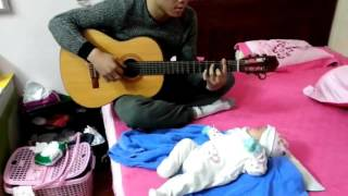 [Guitar] HAPPY NEW YEAR (ABBA) - Guitar Cover by Tú Hoàng (So funny) ✔