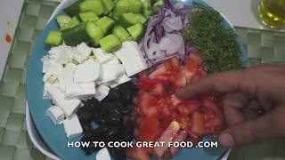 Greek Pasta Salad Recipe - Feta Cheese Olives