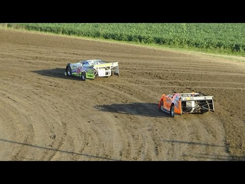 Late Model Hot Laps at I-96 Speedway on 08-25-16.