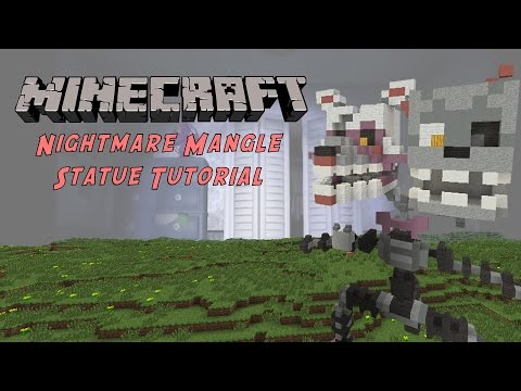 Minecraft Tutorial: Nightmare Mangle (Five Nights At Freddy's) Statue