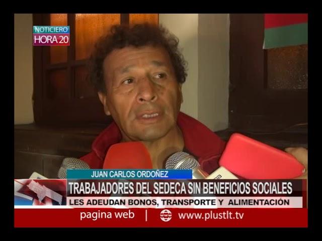 HORA20- TRABAJADORES DEL SEDECA SIN BENEFICIOS SOCIALES