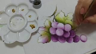 Pintura em Tecido – Aprenda Pintar Uva