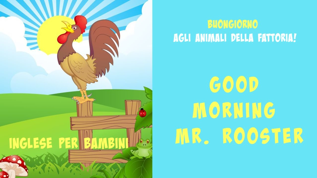Good Morning Mr Rooster Super Simple Buongiorno Animali Della