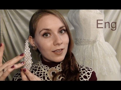 ASMR  in English. PERSONAL STYLIST in WEDDING SALON. Russian ACCENT. Soft talking. Role-play.