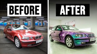Flip Paint Wrapping Project BMW E46 Compact