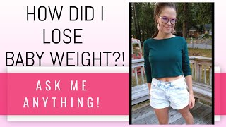 POSTPARTUM WEIGHT LOSS // How did I lose the baby weight?? (after 3 kids)