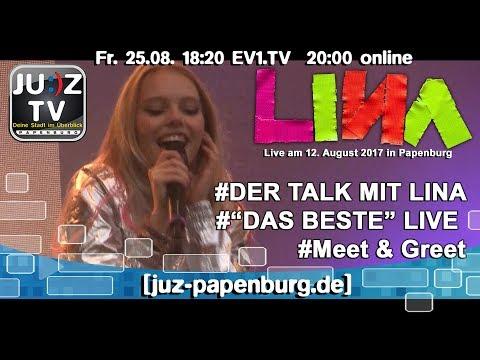 JUZ-TV Papenburg Jubiläumsausgabe - Talk mit LINA Larissa Strahl
