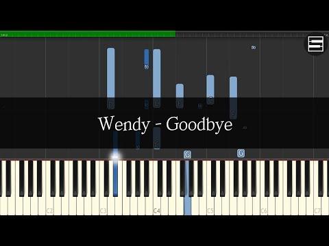 웬디 (Wendy) - Goodbye (굿바이)   Kpop Piano Cover