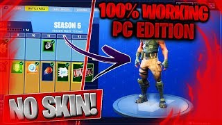 *NEW* HOW TO EQUIP THE DEFAULT SKIN ON PC IN FORTNITE SEASON 5! (100% WORKING)