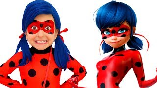 Miraculous Ladybug magically appears in Strangers' House   Pretend Play Story by Super Elsa