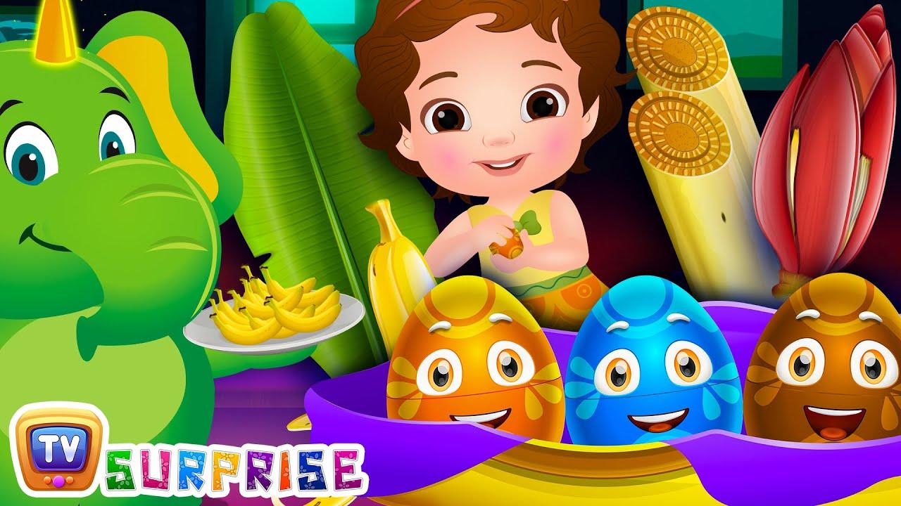 Surprise Eggs Toys Nursery Rhymes - Banana Song - ChuChu TV Surprise