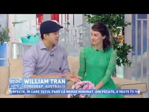 Prima Ora - Will and Irina Interview - Moldova Morning Television Show (Just Friends Dance Academy)