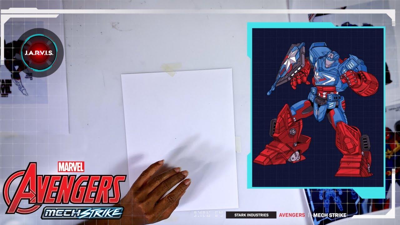 Mech Strike DRAW! - Captain America   NEU auf Marvel HeadQuarter Deutschland