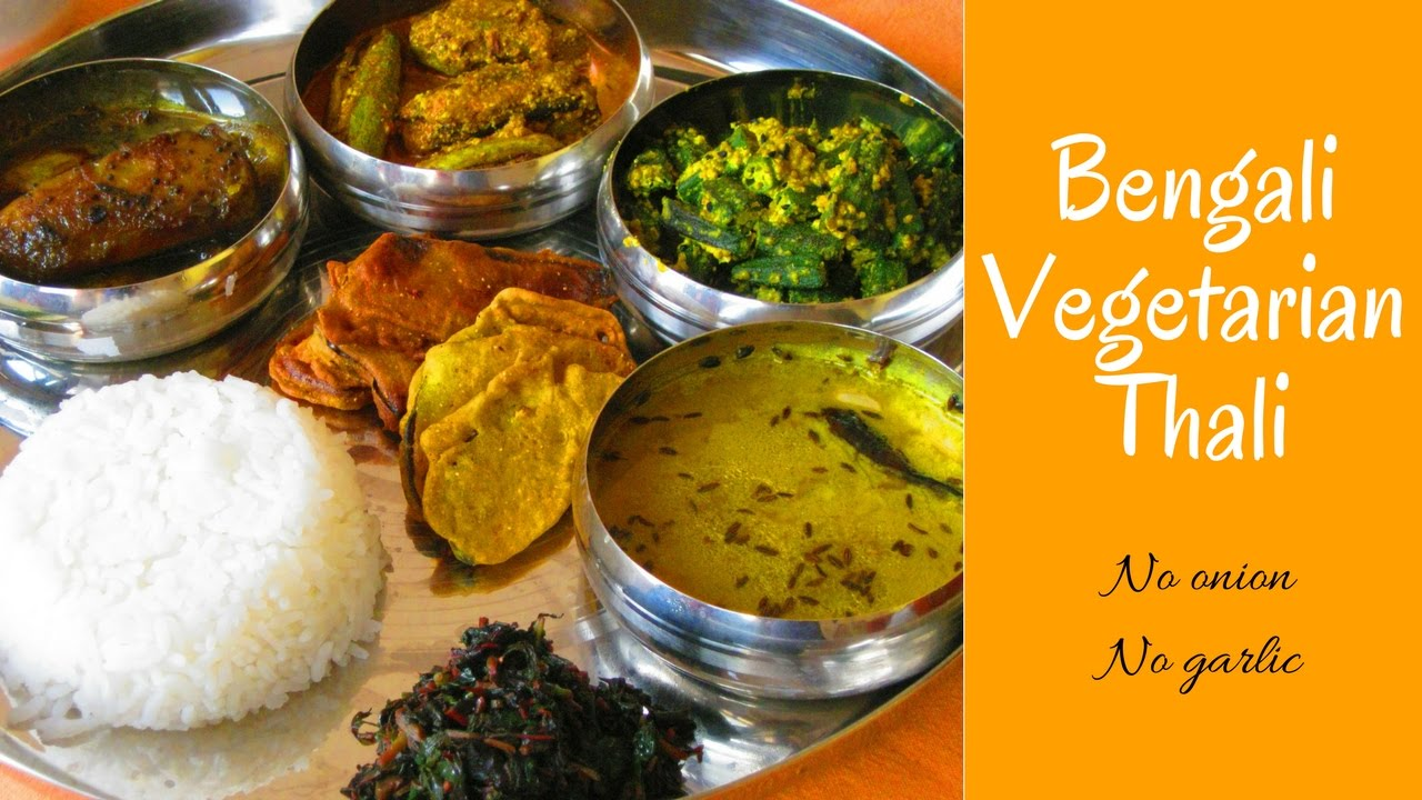 Bengali thali veg thali indian food no onion no garlic thali bengali thali veg thali indian food no onion no garlic thali forumfinder Image collections