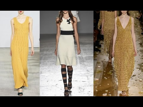 Тренды лета: модные вязаные платья. Летние платья спицами от дизайнеров. Вязаные платья спицами