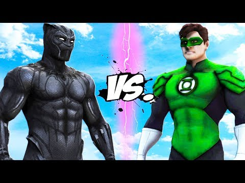 BLACK PANTHER VS GREEN LANTERN - Marvel vs DC