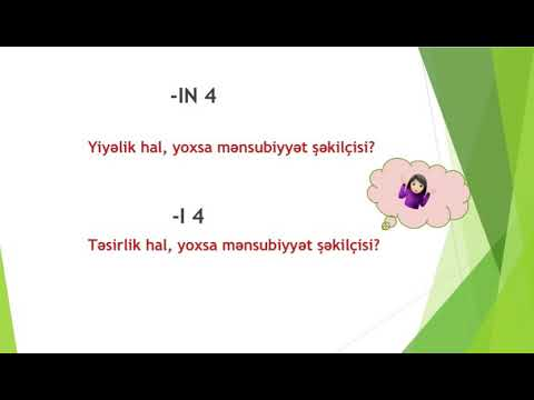 Azərbaycan dili - 5 İsim