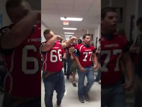 Drew Central Football Players Vs McGehee School District Football Players Ark Pep Rally Part 1