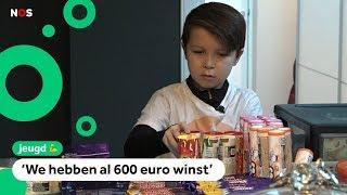 Oscar (10) miste zijn favoriete snoep en begon een winkel