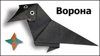 видео Оригами ворона схема