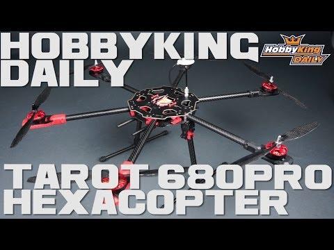 Tarot 680PRO HexaCopter Folding Frame 3K Carbon (KIT)